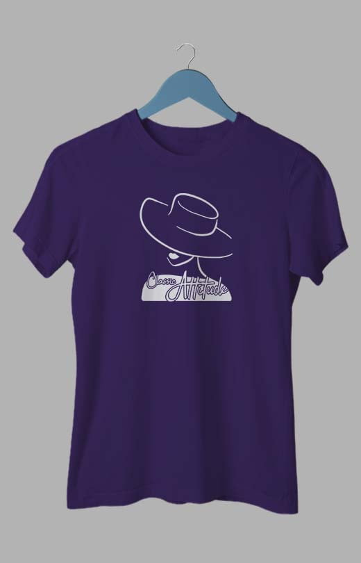 Attitude T shirts For Women Purple