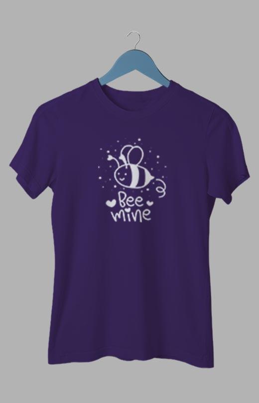 Bee Mine T shirt Purple