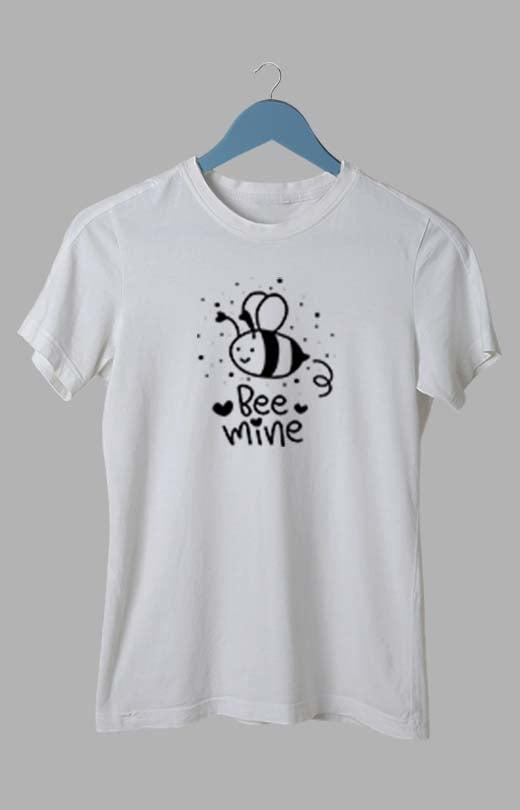 Bee Mine T shirt White