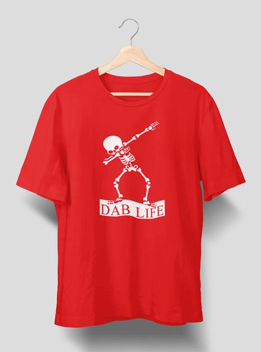 Dab Life T Shirt For Man Red