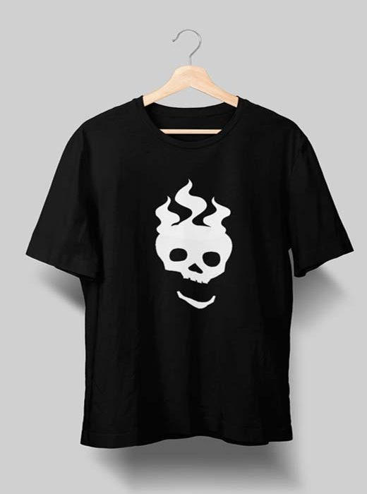 Skull T shirt Black