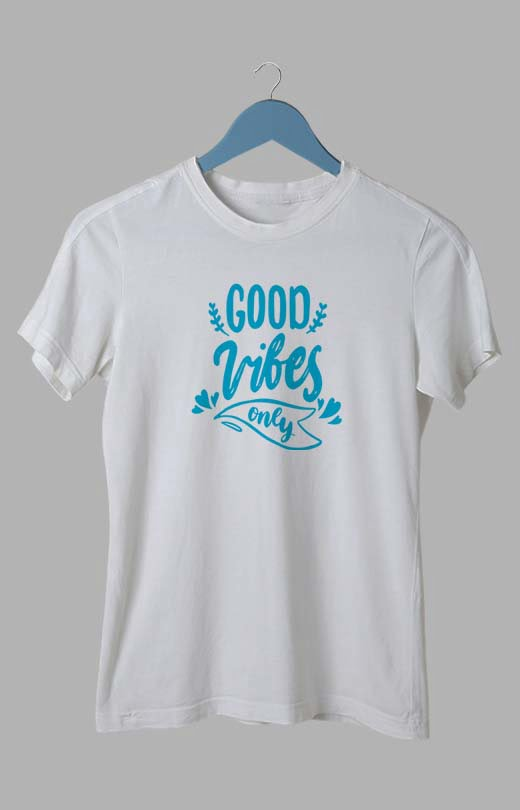 Good Vibes Only T Shirt for Womens White