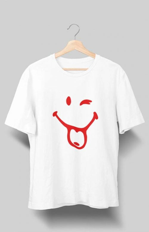 Happy Mood Naughty Smiley T shirt White
