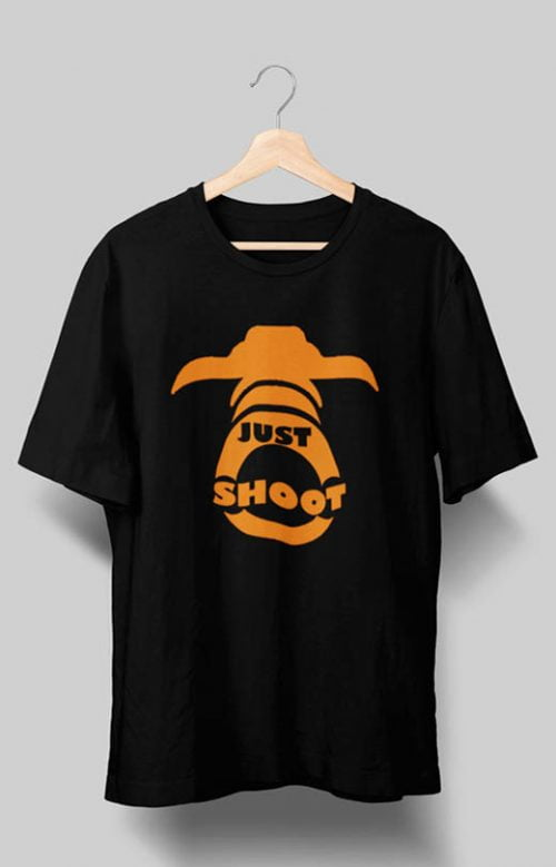 Just Shoot Photography T shirts Black