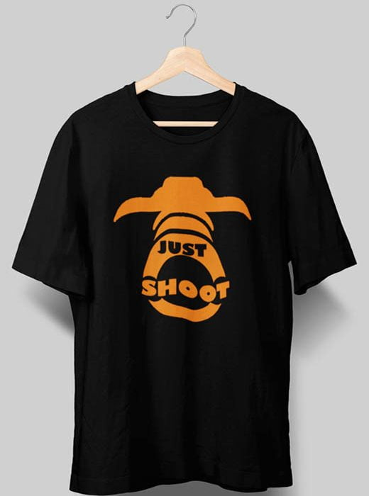 Just Shoot Photography T shirts Black