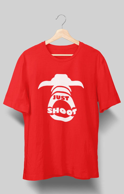 Just Shoot Photography T shirts Red