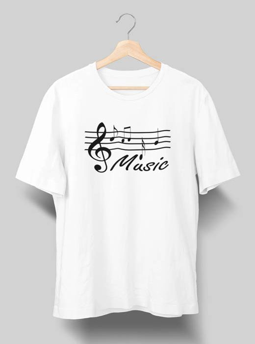 Music T Shirts India White