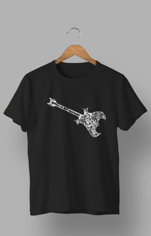 Music is My Passion T shirt Black
