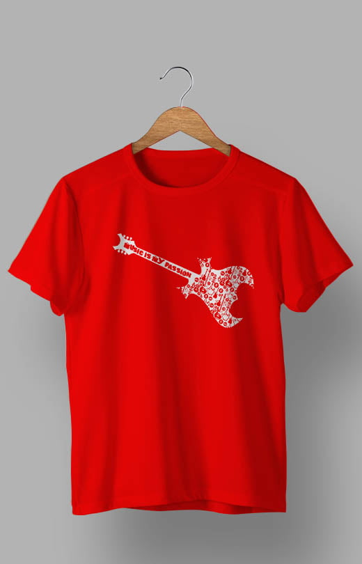 Music is My Passion T shirt Red