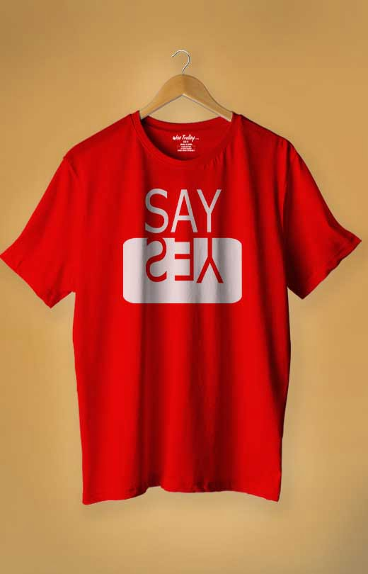 Say Yes T-shirt Red