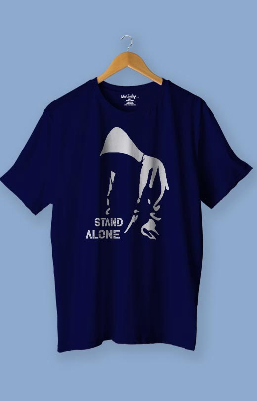 Stand Alone T Shirt Blue