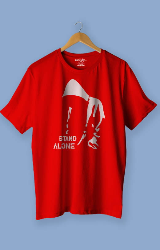 Stand Alone T Shirt Blue Red