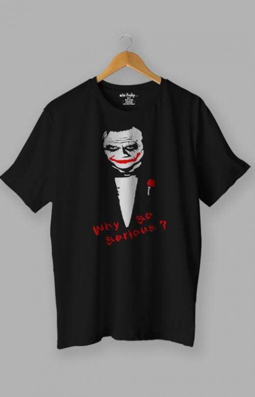 Why So Serious T Shirt Joker T Shirt Black
