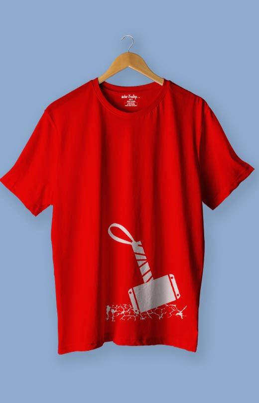 Hammer Avengers T shirt Red