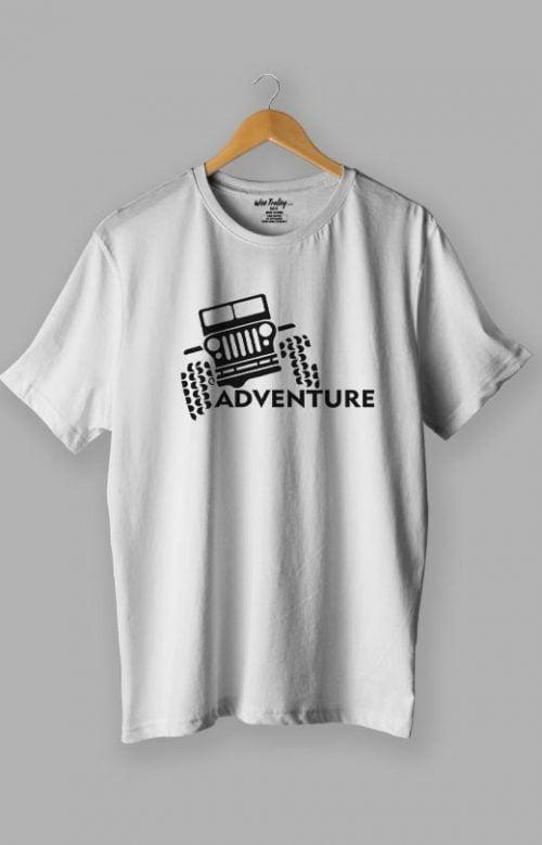 Adventure T shirt Design for Men White