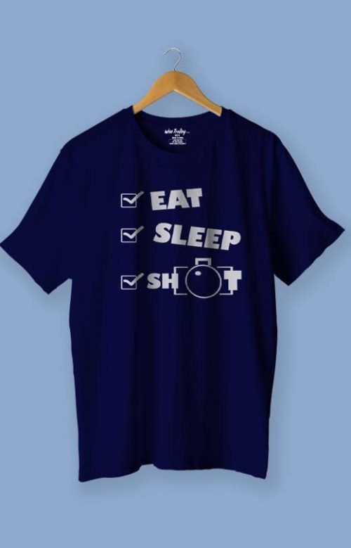 Eat Sleep Shoot Repeat T-Shirt Blue