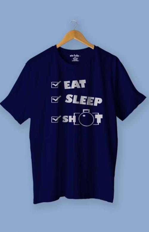 Eat Sleep Shoot Repeat T-Shirt Blue