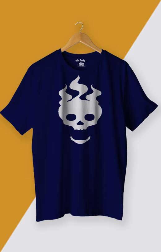 Skull T shirt Blue
