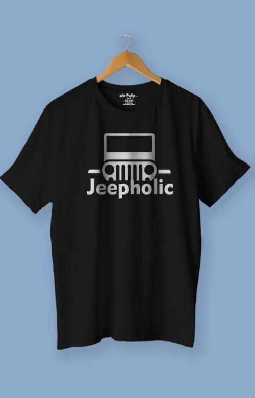 Jeepaholic Jeep T-shirt for Men Black