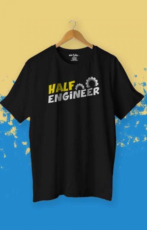 Half Engineer T-Shirt Black