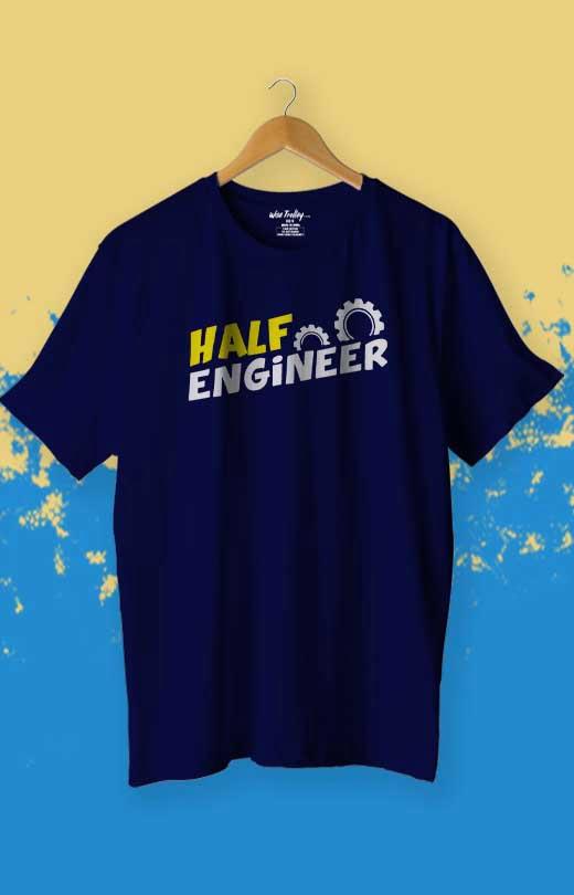 Half Engineer T-Shirt Blue