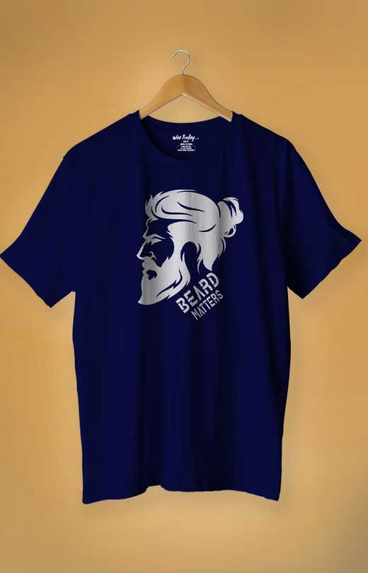 Beard T Shirt Blue