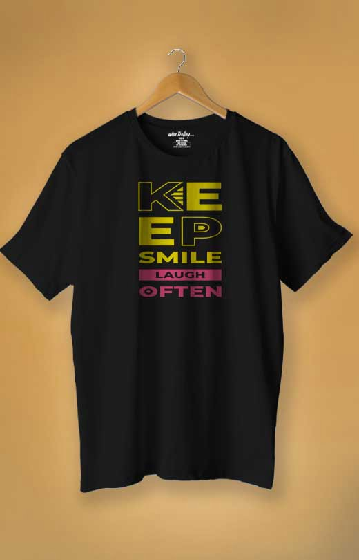 Smile T-shirt Design Black