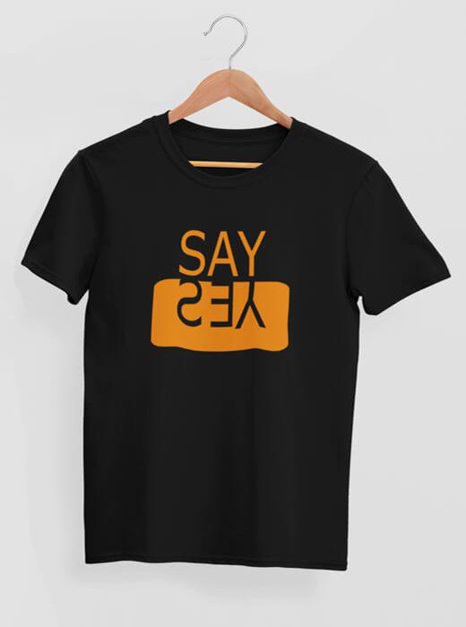 Say Yes Positive Attitude T-shirt black