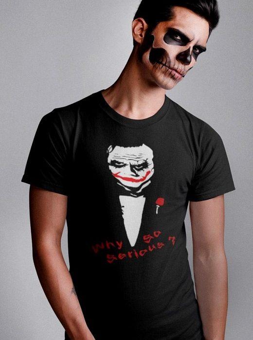 Why So Serious T Shirt Joker T Shirt