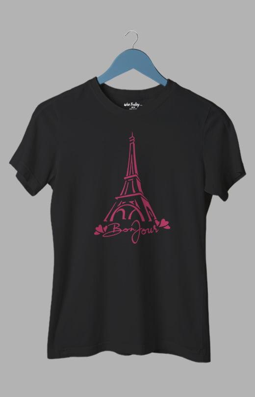 Paris T-shirt Women Black