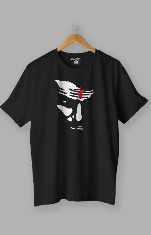 Aggression Face Shiva T shirt Black
