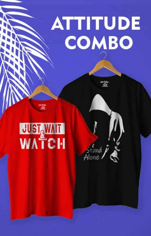 Attitude Quotes T shirt Combo Pack