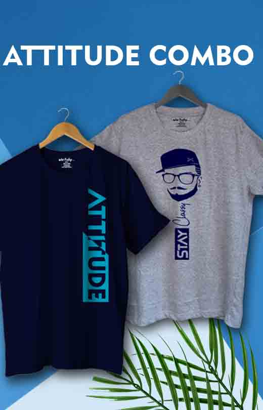 Attitude T shirt Combos for Men