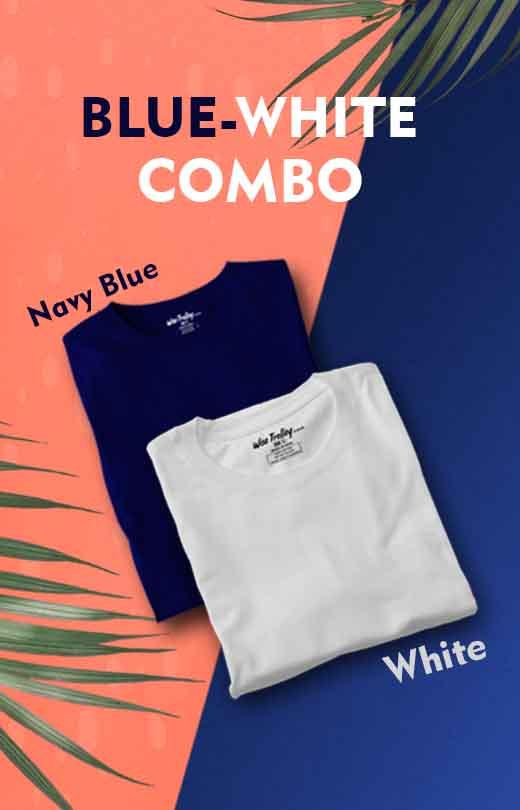 Blue white combo