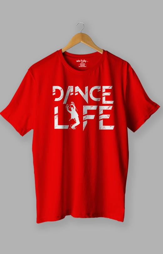 Dance Life Dance T shirt Red