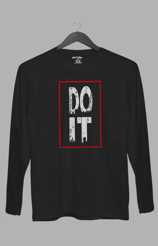 Do It Long Sleeve T shirt Black