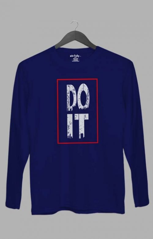 Do It Long Sleeve T shirt Blue