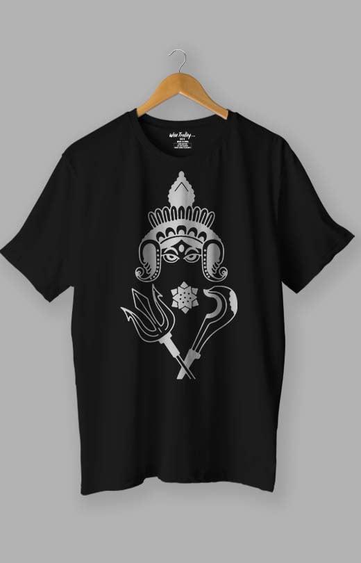 Durga Puja T shirt Black