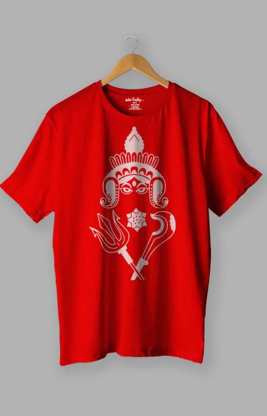 Durga Puja T shirt Red
