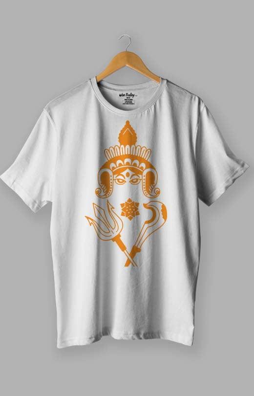 Durga Puja T shirt White