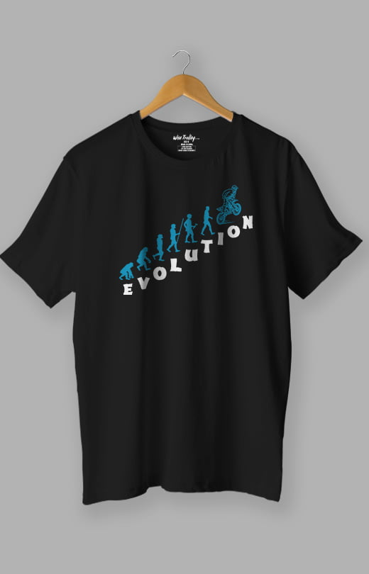 Evolution Bike T shirt Black