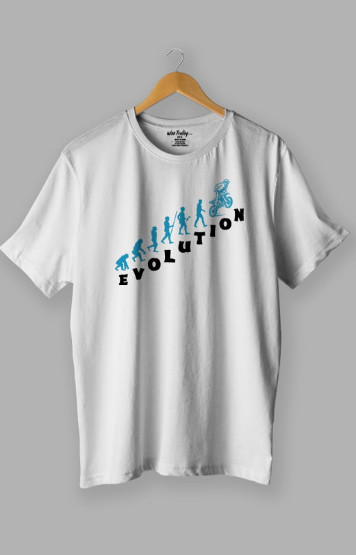Evolution Bike T shirt White