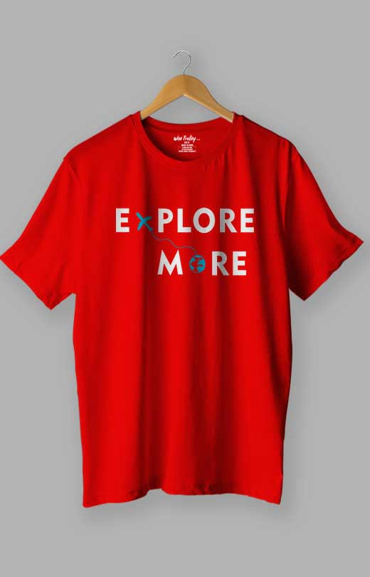 Explore More T shirt Red