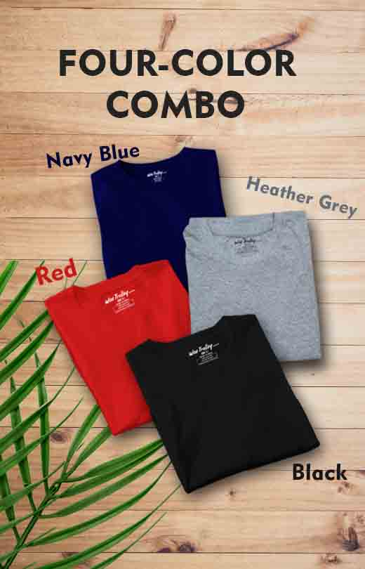 Four Colours Combo Cack of T shirts for Mens