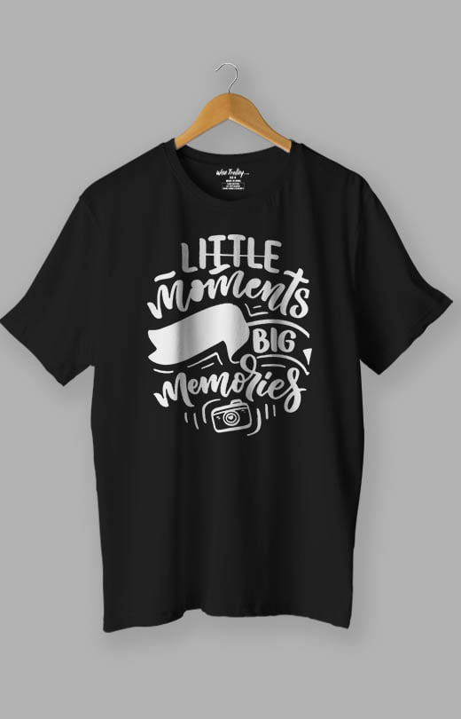 Little Moments Big Memories Photography Lovers T shirt Black