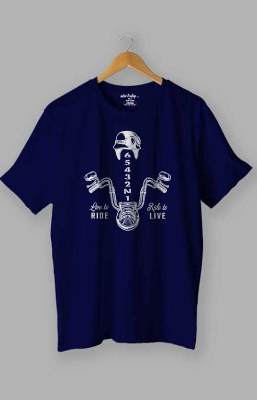 Live to Ride T shirt Blue
