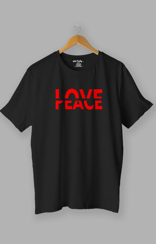 Love Peace T shirt Black