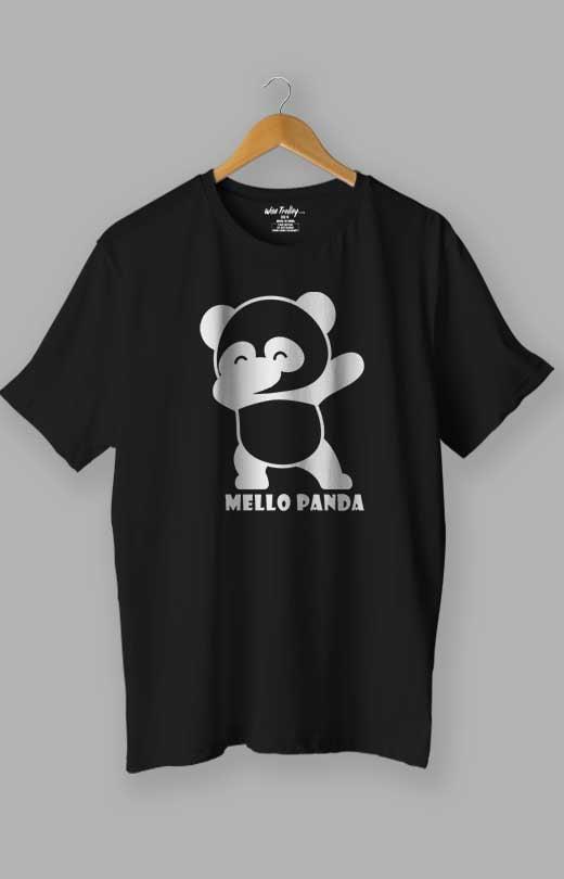 Mello Panda T shirt Black