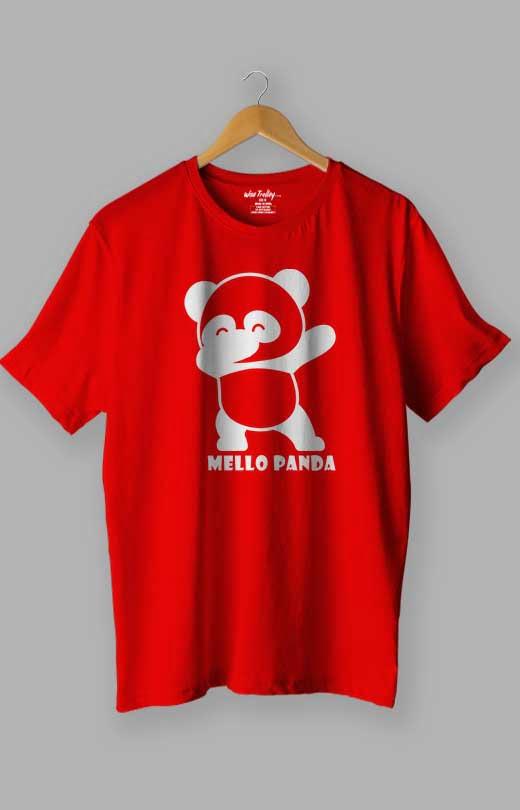 Mello Panda T shirt Red