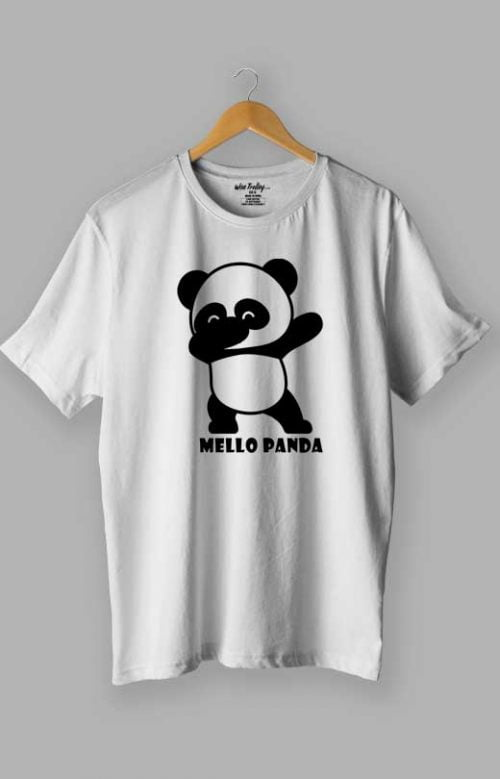 Mello Panda T shirt White
